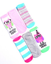 Women - Nerdy Bird/Party Bird 6 Pk No Show Sock