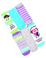 Accessories - DJ Birdy Bird/Bro Bird 6 Pk No Show Sock