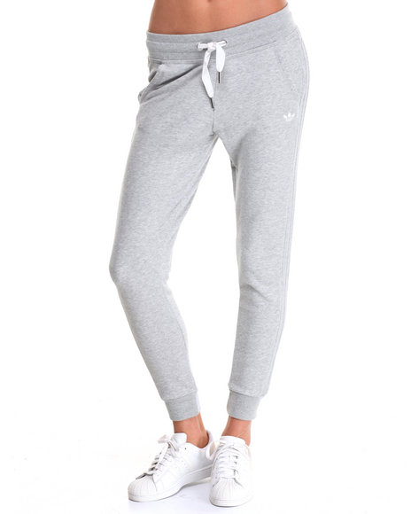 Adidas - Women Grey Slim Cuffed Track Pants