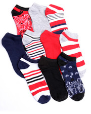 Accessories - Bandana 10Pk No Show Socks
