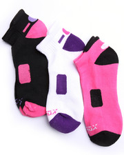 Women - 3Pk Low Cut Heel Tab Active Socks