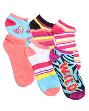 Accessories - Wild Side 6Pk No Show Socks