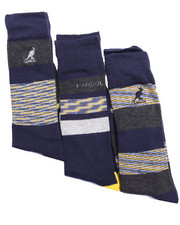 Men - Space Dye Stripes Dress Casual 3Pk Socks