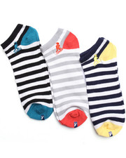 Socks - Nautical Stripes 3Pk No Show Socks