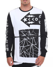 Men - Mixed - Print Crewneck Sweatshirt
