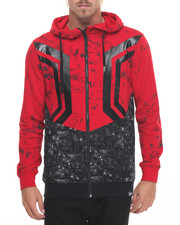 Buyers Picks - Hexagon - Print Zip - Up Hoodie