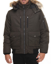 Sean John - S J Signature Snorkel Coat W/ Faux - Fur - Lined Hood