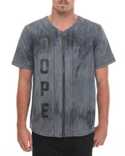 Men - Bleached Denim Baseball Jersey