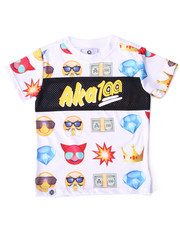 Sizes 2T-4T - Toddler - EMOJI MESH TRIM TEE (2T-4T)