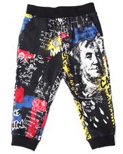 Bottoms - STREET ART ALLOVER PRINT JOGGERS (2T-4T)