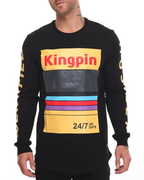 Hudson Nyc - Men Black Kingpin L/S Tee - $60.00