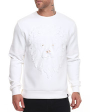 Sweatshirts & Sweaters - Embossed Lion Face Crewneck Sweatshirt