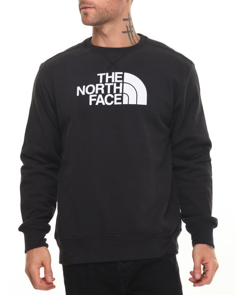 The North Face - Men Black Half Dome Fleece Crew Sweatshirt - $34.99
