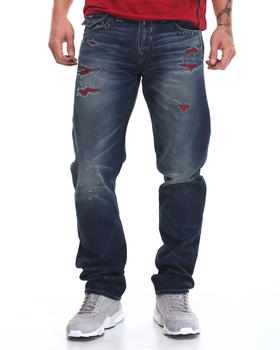True Religion - Red Weft Distressed Geno Jean