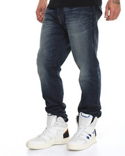 Relaxed - Sand Blasted Geno Flap Jean