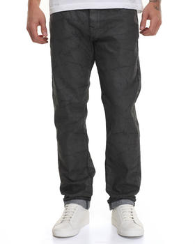 True Religion - Waxed Marbled Geno w/ Flap  Jean