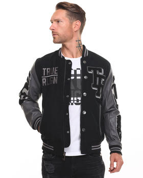 Jackets & Coats - Collegiate Leather Bomber