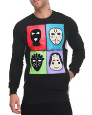 Men - Masks Chenille - Trim Crewneck Sweatshirt