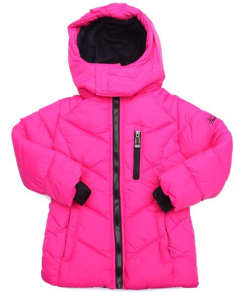 Weatherproof - Girls Pink Bubble Jacket W/ Vestee (4-6X)