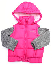 Sizes 4-6x - Kids - BUBBLE VEST W/ SWEATER SLEEVES (4-6X)