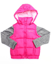 Heavy Coats - BUBBLE VEST W/ SWEATER SLEEVES (7-16)
