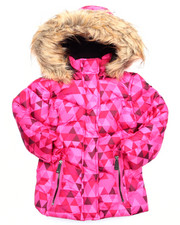 Outerwear - GEO PRINT BUBBLE JACKET  (2T-4T)