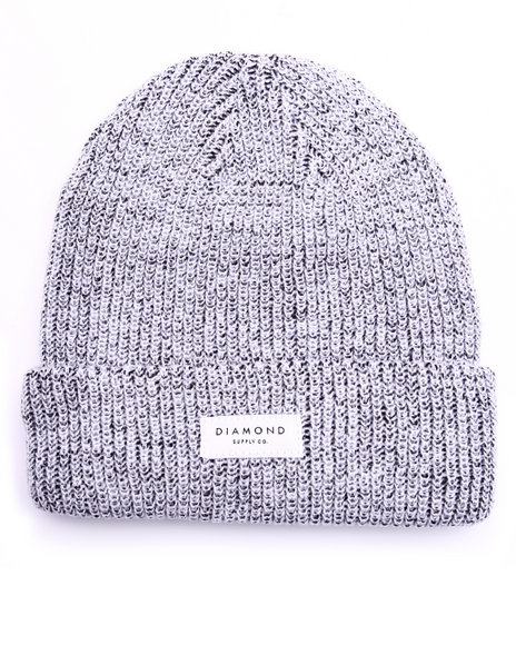 Diamond Supply Co Men Stone Cut Beanie White
