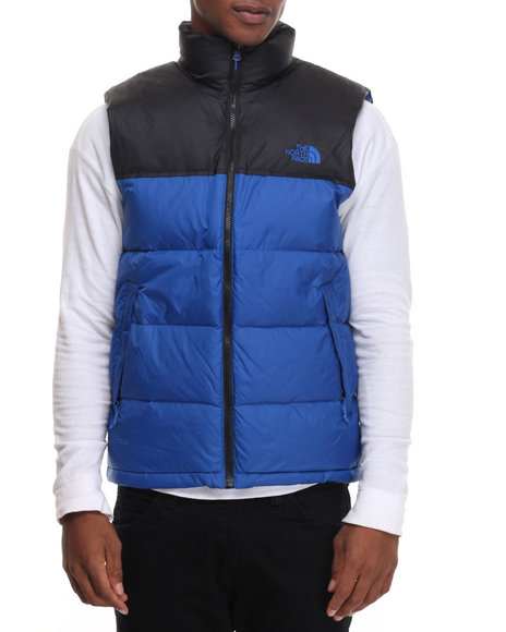 The North Face - Men Blue Nuptse Vest