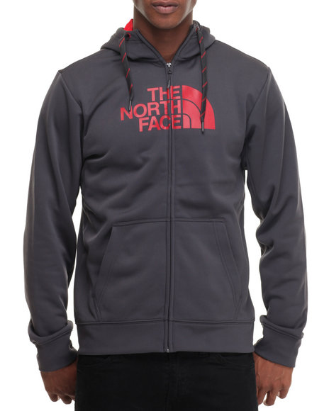 The North Face - Men Grey Surgent Half Dome Full Zip Hoodie