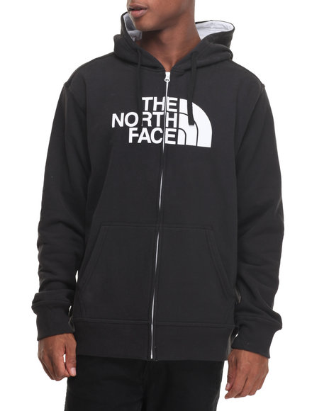 The North Face - Men Black Half Dome Full Zip Hoodie