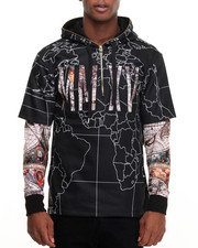 Buyers Picks - Globe Print DBL Layer Hoodie