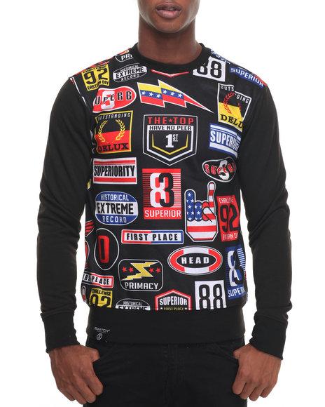 Buyers Picks - Men Black Nascar Crewneck Sweatshirt