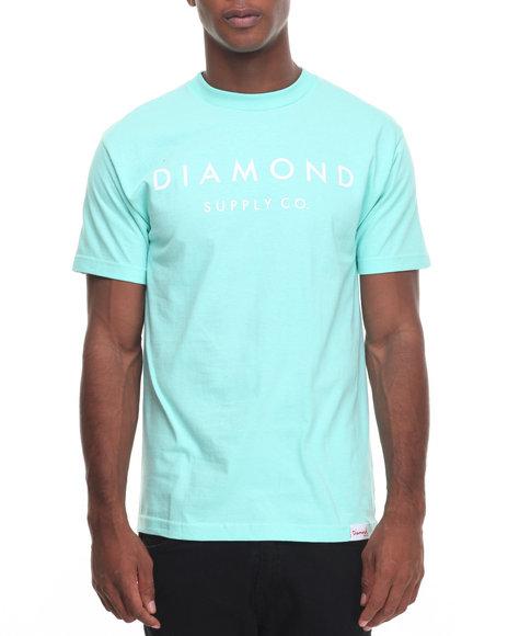 Diamond Supply Co Men Stone Cut Tee Teal X-Large