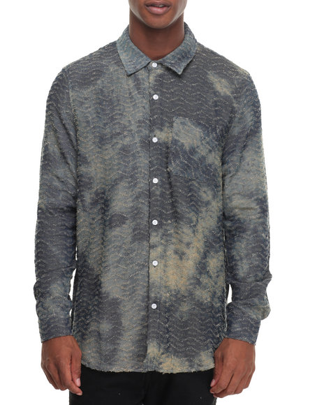 Hudson Nyc - Men Vintage Wash Washed Chambray L/S Button-Down