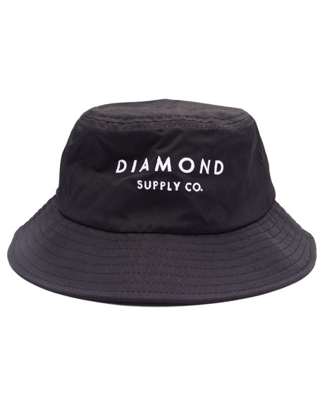 Diamond Supply Co - Men Black Stone Cut Bucket Hat - $38.99