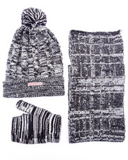 Sets - 3 PC CABLE KNIT COLD WEATHER SET (7-16)