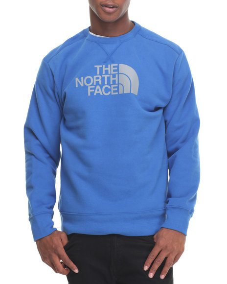 The North Face - Men Blue Half Dome Fleece Crew Sweatshirt