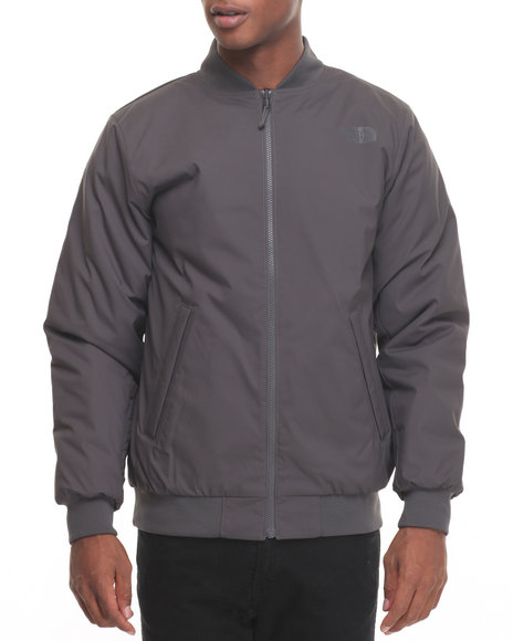The North Face - Men Grey Soft Shell Woodside Bomber Jacket