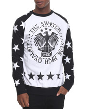 Buyers Picks - Star Print Raglan Crewneck Sweatshirt