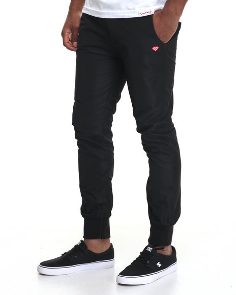 Diamond Supply Co - Men Black Diamond Warm Up Pants