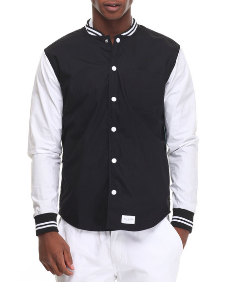 Diamond Supply Co Black Button-Downs