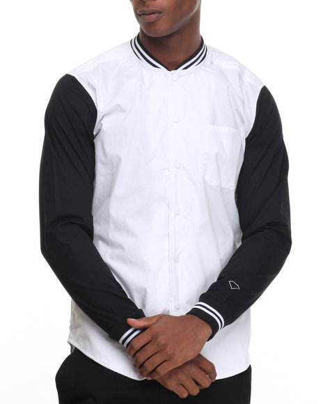 Diamond Supply Co White Button-Downs