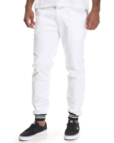 Diamond Supply Co Men Stone Cut Chino Pants White 34