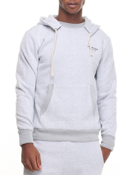 Diamond Supply Co - Men White Stone Cut Pullover Hoodie