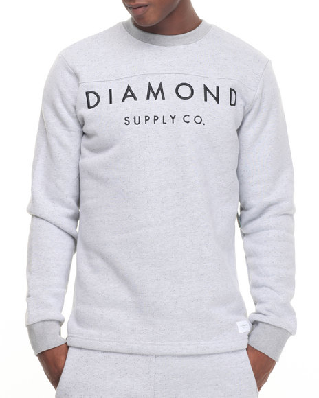 Diamond Supply Co - Men White Stone Cut L/S Football Top