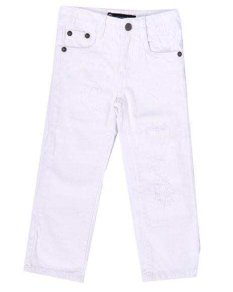 Akademiks - Boys White Distressed Rip & Repair Jeans (4-7) - $33.99