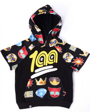 Sizes 2T-4T - Toddler - EMOJI S/S RAGLAN HOODY (2T-4T)