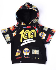Hoodies - EMOJI S/S RAGLAN HOODY (INFANT)