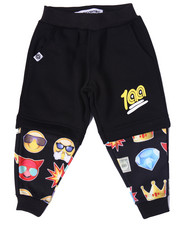 Bottoms - EMOJI COMPRESSION SHORT JOGGERS (2T-4T)