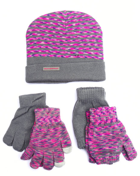 Weatherproof Girls 5 Pc Cold Weather Set (716) Pink 1SZ